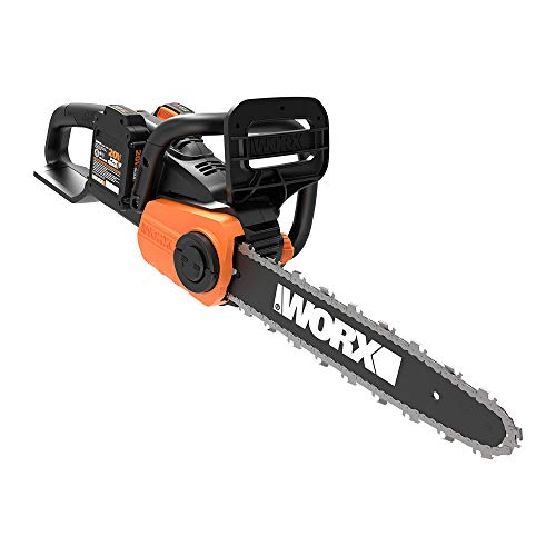 WORX WG384 40V Power Share 14 Cordless Chainsaw w Auto-Tension 2x20V Batteries