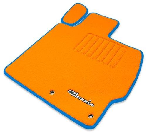 クラッツィオ ( Clazzio ) 【 フロアマット 】 トヨタ プリウス PHV ZVW35 【1台分セット】 (オレンジ×オレンジ×ブルー) ET-1072-Y101-OOE B00SQT4GJI ブルー ブルー