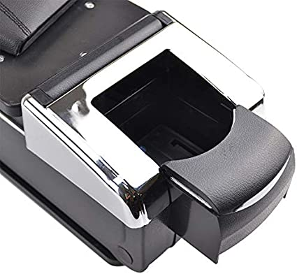 Reposabrazos giratorio para Yetia 2009-2016 para 2005-2012 Octavia Mk2 A5 Laura negro rosca caja de almacenamiento reposabrazos
