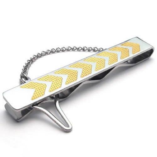 KONOV Stainless Steel Necktie Silver