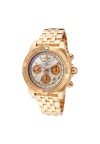 Breitling Men's Windrider Automatic Mechanical Chrono White MOP Dial 18k Solid Rose Gold