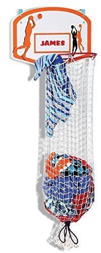 Pile Hoop - Kleeger Kids Basketball Clothes Hamper: 2-In-1 Basketball Hoop & Laundry Bag Mounts Over The Door, Made With Metal Rim.
