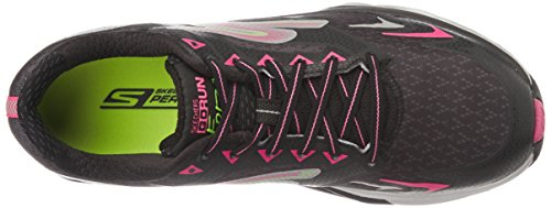 Skechers Performance Womens Go Run Forza Boston 2016 Scarpa Da Corsa Nero / Rosa