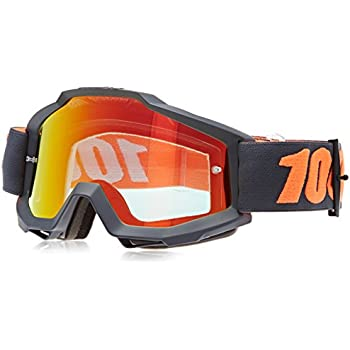 100% unisex-adult Goggle (Gunmetal,Mirror Red,One Size) (ACCURI ACC Gray Multi-layer Mirror Lens/Red)