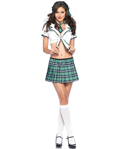 Miss Prep School Adult Costume Green - X-Small