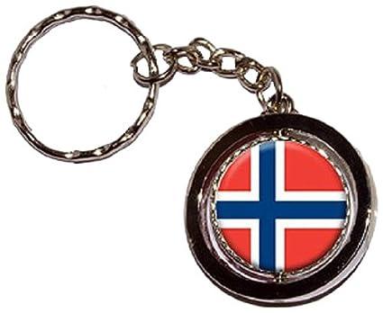 Noruega bandera de Noruega - clave cadena llavero anillo ...