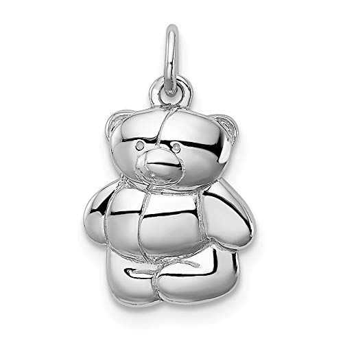 925 Sterling Silver Teddy Bear Pendant Charm Necklace Baby Fine Jewelry Gifts For Women For Her