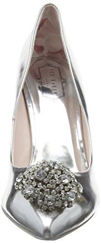 Tacón Mujer de Silver Zapatos Plata Baker Peetch Ted para aqPBIB