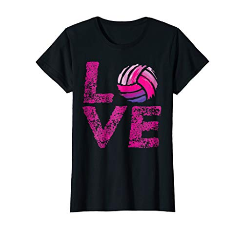 (Womens Love Volleyball TShirt NewStyle T-shirt)