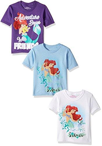Disney Girls the Little Mermaid Ariel 3-Pack T-Shirt