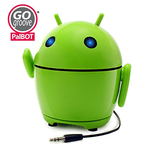 Accessory Power GOgroove Portable Speaker Player with Alien Design, Light up LED Eyes & Built-in 3.5mm AUX Cable- Works with Leapfrog LeapPad3, Nabi Dream Tab HD, Vtech Innotab Max & - 3 Accessories Innotab