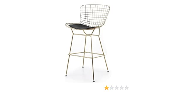 Astonishing Amazon Com Bertoia Style Wire Counter Stool In Gold Finish Theyellowbook Wood Chair Design Ideas Theyellowbookinfo