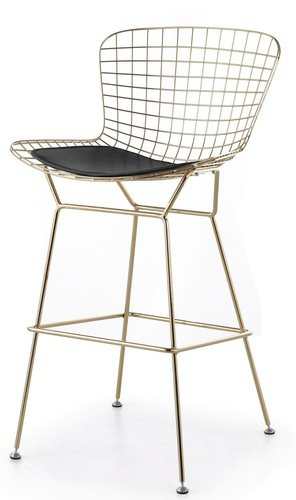 Astonishing Amazon Com Bertoia Style Wire Counter Stool In Gold Finish Ocoug Best Dining Table And Chair Ideas Images Ocougorg