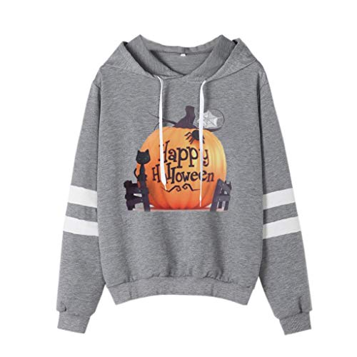 Halloween 2018,Gillberry Halloween Printed Sweatshirt Long Sleeve Casual Hooded Shirt -