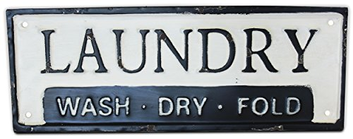 Metal Tin Laundry Sign, (Decorative, Hanging) | by Urban Legacy