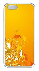 Orange Breeze TPU Silicone Case Cover for iPhone 5/5S ¨C White