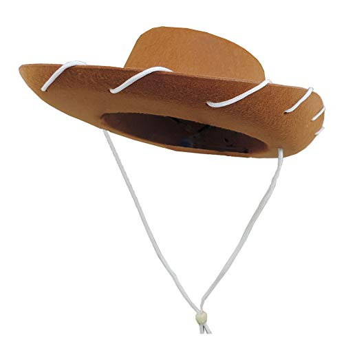 Novelty Giant Children's Western Woody Style Kids Cowboy Ranch Hat Brown]()