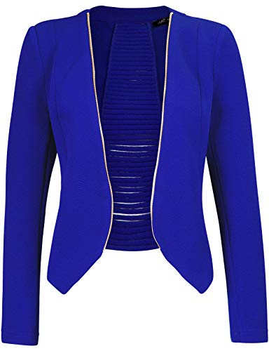 Royal Blue Jacket - Michel Womens Open Front Cardigan Blazer Jacket Small