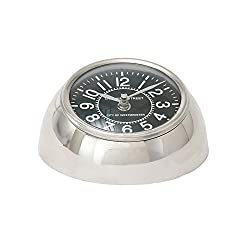 Deco 79 40694 Stainless Steel Table Clock 6 W, 3 H