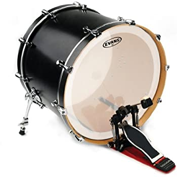 evans eq3 frosted bass drum head 20 inch musical instruments. Black Bedroom Furniture Sets. Home Design Ideas