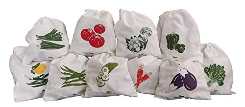 Arka Home Products 100% Cotton Vegetable Storage Fridge Bags (Set of 10) Eco-Friendly, Non-Toxic, Washable, Reusable Price & Reviews
