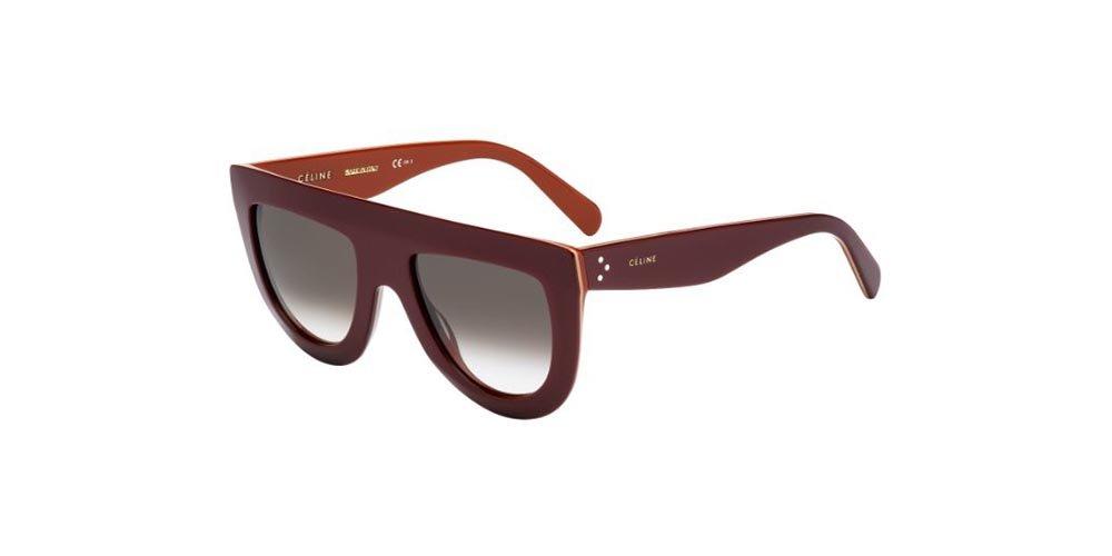 Celine Damen Sonnenbrille Andrea 807, Mehrfarbig (Black/Dark Grey Degrade), 52