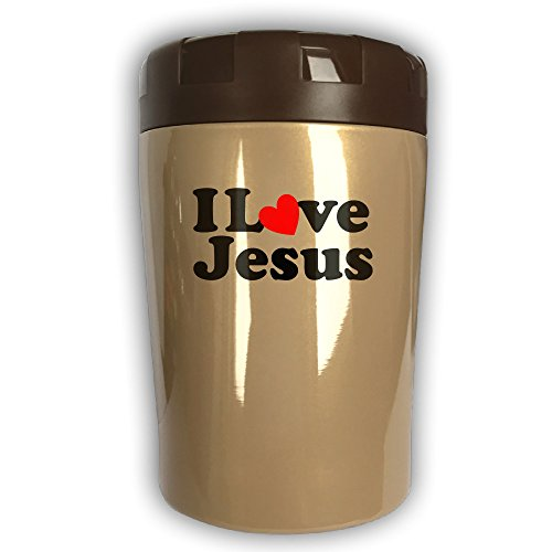 Jesus Thermos Cup,Travel Insulation,Kettle Stew Pot,Outdoor Tableware,Stew Mug Burning Bottle,Vacuum Insulated Food Jar Chocolate