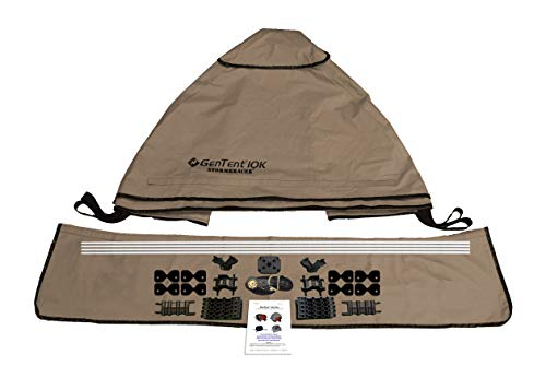 GenTent 10K Generator Tent Running Cover - XKI Kit (Standard, TanLight) - Compatible with 1000w-3000w Inverter Generators by GenTent Safety Canopies (Image #2)