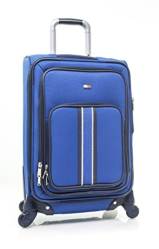 """Tommy Hilfiger Signature Solid 20"""" Expandable Spinner, blue"""