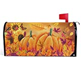 Wamika Fall Sunflowers Pumpkins Mailbox Covers Magnetic Butterfly Maple Leaf Mailbox Cover Autumn Mailbox Wraps Post Letter Box Cover Garden Decorations Outdoor Large Size 25.5' X 21'