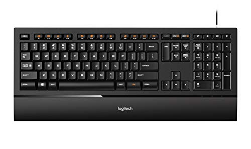 Logitech Illuminated Ultrathin Keyboard K740 with Laser-etched Backlit Keyboard and Soft-touch Palm Rest