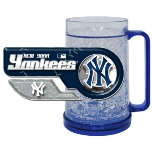 mlb new york yankees freezer mug insulated acrylic beer glass 16