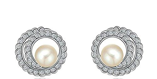 Gnzoe Women's Girl's Stud Earrings Gold Plated White Gold Star Shape 1.81.8cm, (Gta V Costumes Online)