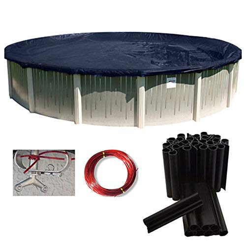 24' Ft Round Deluxe Above Ground Swimming Pool Winter Cover 10 Yr w/Cover Clips- Sold by Online Discounts Gifts!
