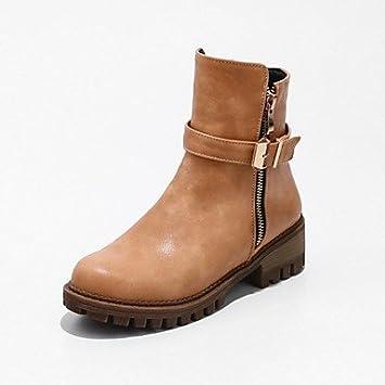 RTRY Zapatos de mujer invierno primavera polipiel Cowboy Western / botas botas botas de moda Chunky