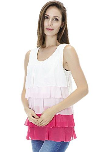 Bearsland - Camiseta de verano sin mangas de mujer, para la lactancia materna Multicolor