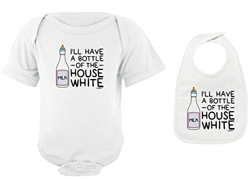 Funny Baby Clothes I'll Have a Bottle of The House White White Bodysuit and White Bib Bundle 6 Months (25 Of The Best Parenting Techniques Ever)