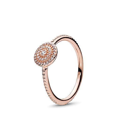 dfd9c66f1 PANDORA Radiant Elegance Ring, PANDORA Rose, Clear Cubic Zirconia, Size 9  from Pandora