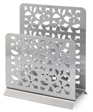 Wedding Gift Boxed Modern Napkin Holder Stainless Steel ()