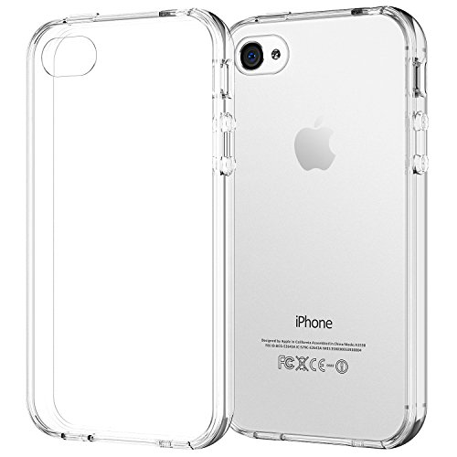 JETech Case for Apple iPhone 4 and iPhone 4s Shock-Absorption Bumper Cover Anti-Scratch Clear Back (HD Clear)