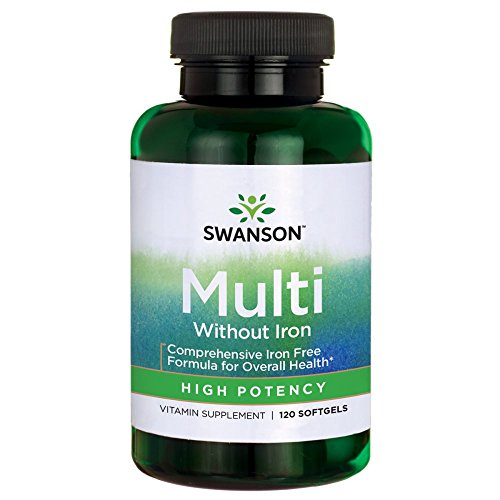 Swanson Multi without Iron Multivitamin Health Supplement Iron-Free Formula 120 Softgels Sgels Review