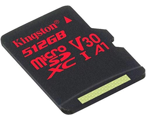 Professional Kingston 512GB MicroSDXC for Huawei Y7 Prime with Custom 100MB/s formatting with SD Adapter! (Class 10/UHS-I/U3/A3/V30)