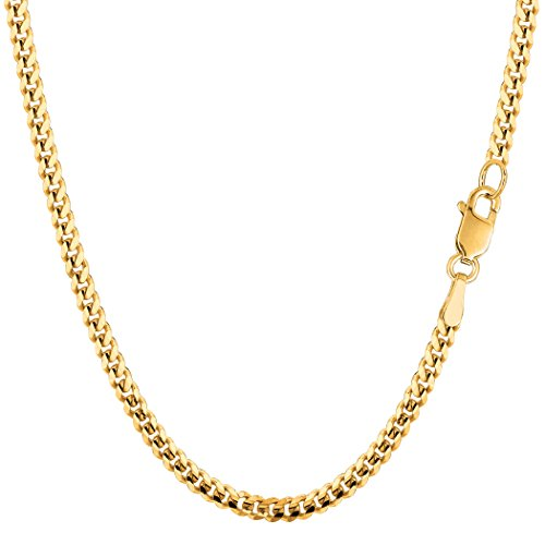 14k Gourmette Chain (14k Yellow Gold Gourmette Chain Necklace, 3.0mm, 20