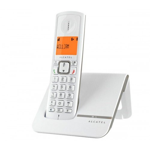 Alcatel Versatis F 230 Schnurlostelefon (DECT), Weiß/Grau