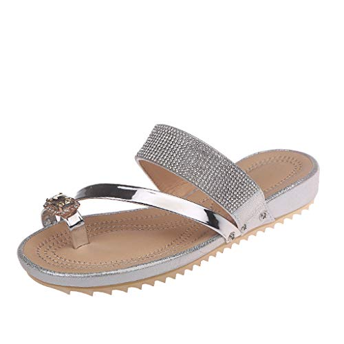 Reflex Shoes Silver - Benficial Women's Fashion Casual Shoes Outdoor Slippers Summer Flat-Heeled Slipper Silver