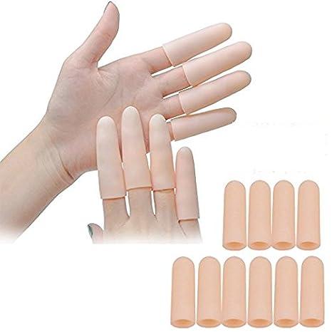 Sumifun Finger maniche Protector tessuto cuscino dita dei piedi per il sollievo istantaneo da usare come per tubi mal di piedi e dita/Callus/Corn/blister (8 bustine)