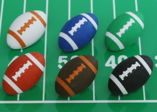 Japanese Iwako Eraser Football Eraser 60pcs Pack (6 Colors Assorted) by Iwako