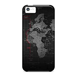 For GtIWVYf6169iJgZa Black Map Protective Case Cover Skin/iphone 5c Case Cover