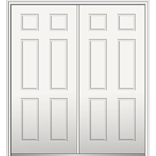 National Door Z029342R  Primed Right Hand In-swing, Prehung Front Door, 6-Panel, 72'' x 80'', Steel by National Door Company