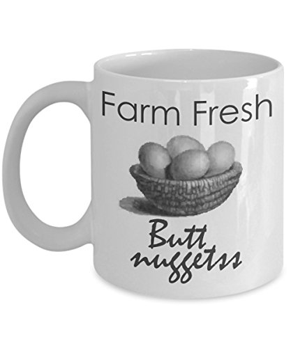 Farmer Boy Mug Chicken Egg Hens Funny Farm Quote Gift Coffee Cup for Rancher, Animal Lover, Cowboy or Cowgirl]()